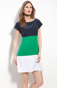 I AM buying this dress for my trip to Mexico this Spring.  I don't necessarily think I can pull off the color-block trend, but this is SO cute!