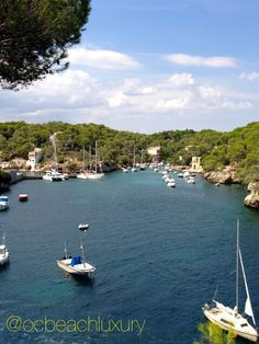Small bay off of Port d' Andratx in Mallorca, Spain. Want to know more? Contact ocbeachluxury@gmail or follow @ocbeachluxury for more travel must see  and must do