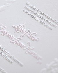 Invitation: Laura + Ben's Traditional Letterpress Wedding Invitations by Fabienne Wente