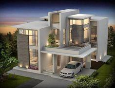 Bungalow Haus Design, Duplex House Design, House Front Design, Design Your Dream House, House Design Photos, Modern Bungalow Exterior, Classic House Exterior, Modern House Facades, Best Modern House Design