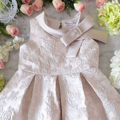 thankyou for trusting us custom SHELBY Blush Flower Girl Dresses, Little Girl Dresses, Girls Dresses, Baby Girl Frocks, Frocks For Girls, Kids Party Wear, Kids Frocks Design, Dress Anak, Baby Dress Design