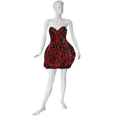 1stdibs.com | Rare '88  Stephen Sprouse/Keith Haring Published Wearable Art Dress