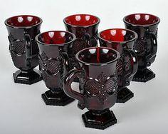 Cape Cod Ruby Irish Coffee Mugs