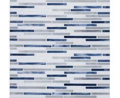 Gigi's Groovy Stixx- AlysEdwards Glass Tile- Moody Blues - eclectic - kitchen tile - - by Mosaic Tile Stone Blue Countertops, Outdoor Kitchen Countertops, Blue Backsplash, Kitchen Countertop Materials, Kitchen Backsplash, Bathroom Countertops, Backsplash Ideas, Kitchen Cabinets, Eclectic Tile