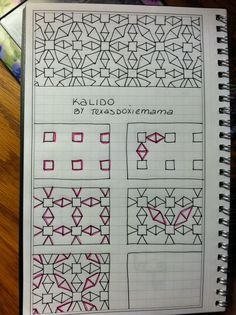 Creative Inspiration: Zentangle and Zendoodle Idea. Kalida Tangle would be fun in color. Drawing, pen and ink, tangles Doodle Zen, Tangle Doodle, Tangle Art, Zentangle Drawings, Doodles Zentangles, Doodle Drawings, Flower Drawings, Doodle Patterns, Zentangle Patterns