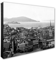 San Francisco 20-Inch x 24-Inch Canvas Wall Art in Black/White