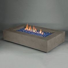 Metro Rectangle Fire Pit - Natural Finish from Starfire Direct Fire Pit Supplies, Fire Pit Landscaping, Landscaping Design, Patio Design, Garden Landscaping, Garden Design, Fire Pit Ring, Fire Pits, Fire Pit Designs