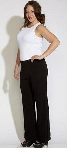 1000  images about Plus Size Pants on Pinterest | Karen kane, Knit ...