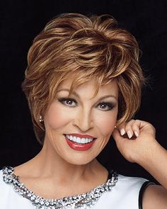 Stunner by Raquel Welch is a short, chic barely waved layered style with face framing fringe. Raquel Welch Stunner wigs feature an ultra light Sheer Indulgence lace front monofilament top with 100% fine human hair with amazing natural movement. Free Shipping in the US. Our Price: $721.00