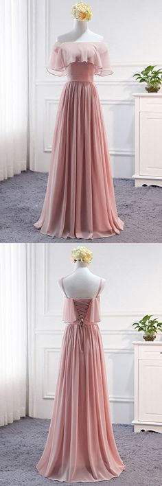 Cute pink tulle off the shoulder sweet 16 prom dresses