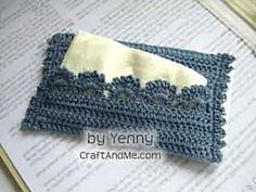 Crocheted travel tissue cover.  Another quick but inexpensive Christmas gift.
