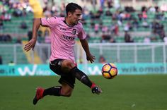 Edoardo Goldaniga of Palermo in action during the Serie A match betweenUS Citta di Palermo and SS Lazio at Stadio Renzo Barbera on November 27, 2016 in Palermo, Italy.