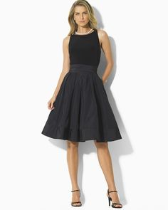 Lauren Ralph Lauren Sleeveless Pleated Dress | Bloomingdale's