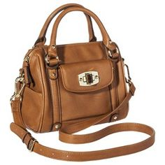 Merona® Mini Satchel Handbag with Removable Crossbody Strap - Tan from Target. Saved to too lazy to change categories