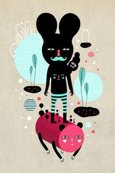 Mowi & Wowo custom tee design by Muxxi #illustration