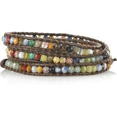 Jewelry & Watches Aspiring Rainbow Multi-colour & Silver Macrame Wrapped Adjustable Bracelet Bangle