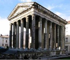 The Temple of Augustus and Livia in Vienne, late 1st century BC