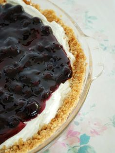 Blueberry Dream Pie! My mom makes this. Delicious! Can also use Strawberries or Cherries on top