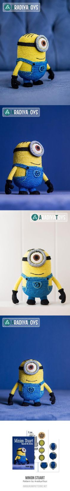Found at Amigurumipatterns.net  Minion Stuart (Despicable Me)  $$
