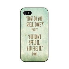 iPhone 6 How do you spell love? Piglet You don't spell it, you feel it... ❤ liked on Polyvore featuring accessories, tech accessories and disney