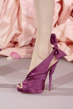 Christian Dior purple satin heels