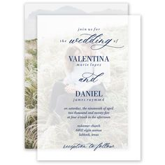 True Love Layered Vellum Invitation | Invitations By Dawn. A breathtaking introduction to your wedding day, this layered vellum wedding invitation is bursting with romance and style. This layered invitation includes two pieces. The top layer is translucent vellum. The sheer nature of this paper allows the bottom layer to show through, creating a truly unique presentation. The invitation wording on the vellum is printed in any color you choose, with thermography printing. Home Wedding, Budget Wedding, Wedding Day, Wedding Invitation Trends, Unique Wedding Invitations, Invitation Wording, Ink Color, Unique Weddings, True Love