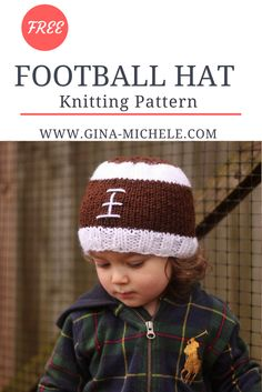 FREE Knitting Pattern for this Football Hat!