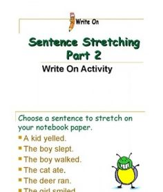 Sentence Stretching 2 Examples 4 LifeLiving RoomStretchingWriting