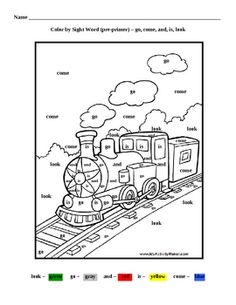 Coloring page using words from the Edmark word list