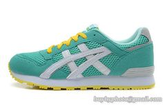 Women's Asics Sneaker Running Shoes A  Green Yellow|only US$95.00 - follow me to pick up couopons.
