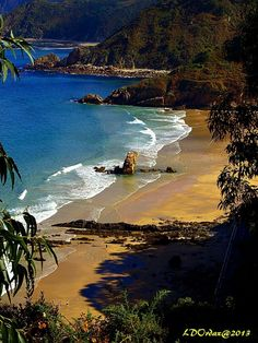 Playa de Aguilar Asturias España