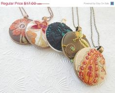 HOLIDAY SALE  Button pendant necklace  7 by EmbellishedLife, $13.60