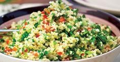 Pripravte si recept na Šalát s bulgurom a bylinkami s nami. Šalát s bulgurom a bylinkami patrí medzi najobľúbenejšie recepty. Zoznam tých najlepších receptov na online kuchárke RECEPTY.sk. Grains, Rice, Food, Meals, Yemek, Laughter, Jim Rice, Eten