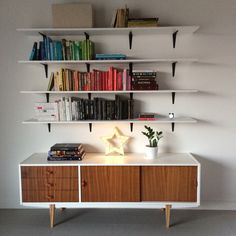Renew vintage dresser from 60's and bookshelves in my living room. Lightbox star is also my work :)