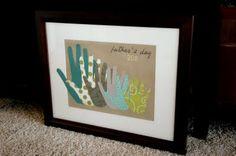 Framed Family Handprint Keepsake Gift