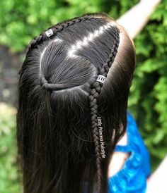 💗💗💗 quick lace braids and pigtails inspired by 😍 hope you all like it! Lil Girl Hairstyles, Princess Hairstyles, Quick Hairstyles, Hairstyles For School, Braided Hairstyles, Hairdos, Girl Hair Dos, Girls Braids, Toddler Hair