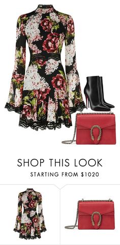 """""""Untitled #778"""" by arianasinger ❤ liked on Polyvore featuring Nicholas, Gucci, Christian Louboutin and vintage"""