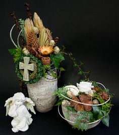 Cemetery Decorations, Table Decorations, Dried Flowers, Funeral, Floral Arrangements, Holiday, Christmas, Wreaths, Ikebana