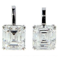 6ct Square Cut Diamond Earrings