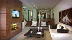 #Casas #Moderno #Sala de estar #Escalera #Accesorios #Mesas de centro #Barandillas #Barras de cocina #Sofas #Peldaños #Taburetes