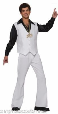 Disco Saturday Night Fever Mens Costume Theme Party