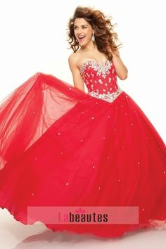 Sweet 15 Dresses Yellow A Line Sweetheart Floor Length Beading & Sequince USD 231.19 PNY3XSH5 - Labeautes.com