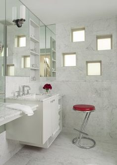 Bathroom contemporary bathroom internal window