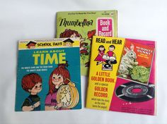 Thumbelina, Mary Poppin's, The White Bunny, Learn about TIME 45 RPM Records by ThoughtfulVintage on Etsy