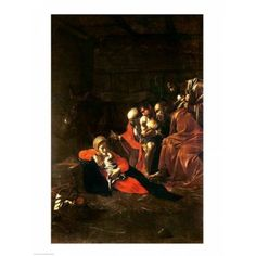 Adoration of the Shepherds Canvas Art - Caravaggio (18 x 24)