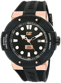 CAT WATCHES Men's 'Shockmaster' Quartz Stainless Steel and Silicone, Color:Black (Model: SE19121119) by CAT WATCHES -- Awesome products selected by Anna Churchill