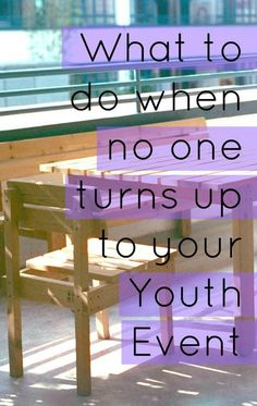 It's disappointing when no one turns up to Youth, even when you have the most AMAZING night planned! Here's some things you can do. Youth Group Events, Youth Group Rooms, Youth Group Lessons, Youth Group Activities, Youth Games, Youth Groups, School Lessons, Youth Ministry Room, Young Adult Ministry