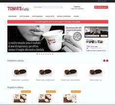 Un nuovo restyling per l'e-commerce di Toma's Caffè!  http://shop.tomascaffe.com