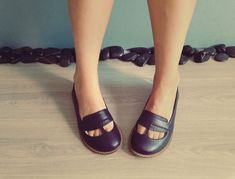 Clementine FREE SHIPPING Handmade Leather Shoes by Keymandesign