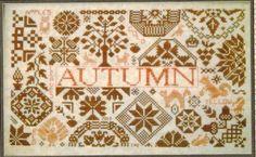 Quaker Seasons Autumn - Cross Stitch Pattern